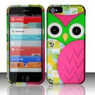 New Hard Plastic Rubberized Snap On Case Cover for Apple iPhone 5 – Starry Green Owl