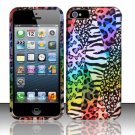 New Hard Plastic Rubberized Snap On Case Cover for Apple iPhone 5 – Rainbow Safari