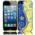 New Hard Plastic Rubberized Snap On Case Cover for Apple iPhone 5 – Royal Swirl