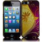 New Hard Plastic Rubberized Snap On Case Cover for Apple iPhone 5 – Splendid Swirl