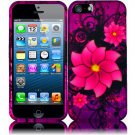 New Hard Plastic Rubberized Snap On Case Cover for Apple iPhone 5 – Divine Flowers