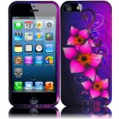 New Hard Plastic Rubberized Snap On Case Cover for Apple iPhone 5 – Mystical Flowers