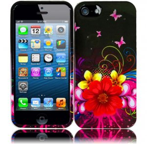 New Hard Plastic Snap On Design Case Cover for Apple iPhone 5 � Delusional Flower