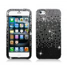 Hard Plastic Bling Rhinestone Snap On Case Cover for Apple iPhone 5 - Black Waterfall