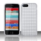 Crystal TPU Gel Check Design Skin Case Cover for Apple 5 - Clear
