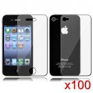 100 Premium Front & Back Clear LCD Screen Protector for Apple iPhone 5 6th Gen Phone