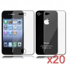 20 Premium Front & Back Clear LCD Screen Protector for Apple iPhone 5 6th Gen Phone