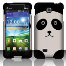 Hard Plastic Rubberized Snap On Case Cover for LG Escape P870 (AT&T) – Cute Panda Bear