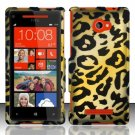 Hard Plastic Snap On Case Cover HTC Windows Phone 8X (Verizon/AT&T/T-Mobile) – Golden Cheetah