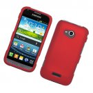 Hard Plastic Rubberized Snap On Case Cover for Samsung Galaxy Victory 4G LTE (Sprint) - Red