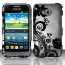 Hard Plastic Rubberized Snap On Case Cover for Samsung Galaxy Victory 4G LTE (Sprint) - Black Vines