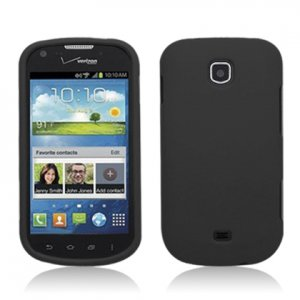 Hard Plastic Rubberized Snap On Case Cover for Samsung Galaxy Stellar 4G i200 (Verizon) - Black