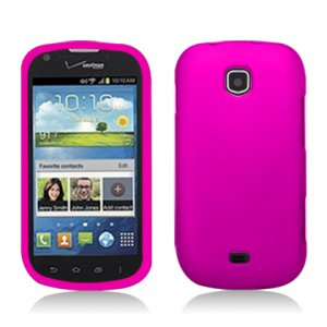 Hard Plastic Rubberized Snap On Case Cover for Samsung Galaxy Stellar 4G i200 (Verizon) - Rose Pink