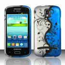 Hard Plastic Snap On Case Cover for Samsung Galaxy S Relay 4G T699 (T-Mobile) – Blue Vines