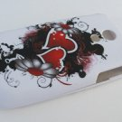 Hard Plastic Rubber Feel Design Case for Samsung Epic 4G - Inked Heart