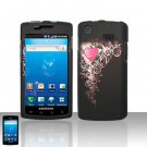 Hard Plastic Rubber Feel Design Case Cover for Samsung Galaxy S Captivate i897 (AT&T) - Royal Heart