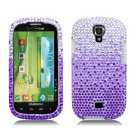 Hard Plastic Bling Snap On Case Cover for Samsung Stratosphere 2 i415 (Verizon) - Purple Waterfall