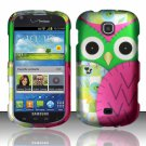 Hard Plastic Snap On Case Cover for Samsung Galaxy Stellar 4G i200 (Verizon) - Starry Green Owl