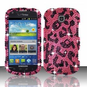 Hard Plastic Bling Snap On Case Cover Samsung Galaxy Stellar 4G i200 (Verizon) - Hot Pink Leopard