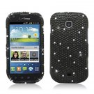 Hard Plastic Bling Snap On Case Cover Samsung Galaxy Stellar 4G i200 (Verizon) - Black Diamond