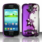Hard Plastic Snap On Case Cover for Samsung Galaxy S Relay 4G T699 (T-Mobile) – Purple Vines