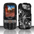 Hard Plastic Rubberized Snap On Case Cover for Samsung Array/Montage M390 – Midnight Garden