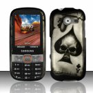 Hard Plastic Rubberized Snap On Case Cover for Samsung Array/Montage M390 – Ace Spade Skull