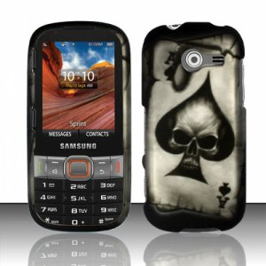 Hard Plastic Rubberized Snap On Case Cover for Samsung Array/Montage M390 � Ace Spade Skull