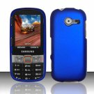 Hard Plastic Rubberized Snap On Case Cover for Samsung Array/Montage M390 – Blue