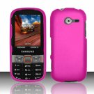 Hard Plastic Rubberized Snap On Case Cover for Samsung Array/Montage M390 – Rose Pink