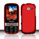 Hard Plastic Rubberized Snap On Case Cover for Samsung Array/Montage M390 – Red