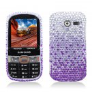 Hard Plastic Bling Snap On Case Cover Samsung Array/Montage M390 – Purple Waterfall