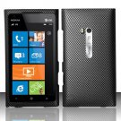 Hard Plastic Rubberized Snap On Design Case for Nokia Lumia 900 (AT&T) – Carbon Fiber