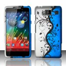 Hard Plastic Snap On Matte Design Case Cover Motorola Droid RAZR Maxx HD (Verizon) – Blue Vines