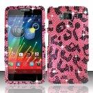 Hard Plastic Snap On Bling Case Cover for Motorola Droid RAZR Maxx HD (Verizon) – Hot Pink Leopard