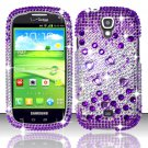 Hard Plastic Bling Snap On Case Cover for Samsung Stratosphere 2 i415 (Verizon) - Purple & Silver