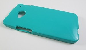 Turquoise Soft TPU Gel Skin Case Cover for HTC One M7 (AT&T/T-Mobile/Sprint) + LCD Guard