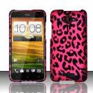 Hard Plastic Snap On Case Cover for HTC Droid DNA 6435 (Verizon) - Hot Pink Leopard