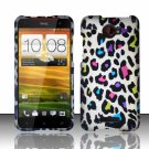 Hard Plastic Snap On Case Cover for HTC Droid DNA 6435 (Verizon) - Rainbow Leopard