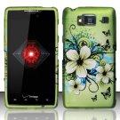 Hard Plastic Snap On Case Cover for Motorola Droid RAZR HD XT926 (Verizon) - Flowers & Butterfly
