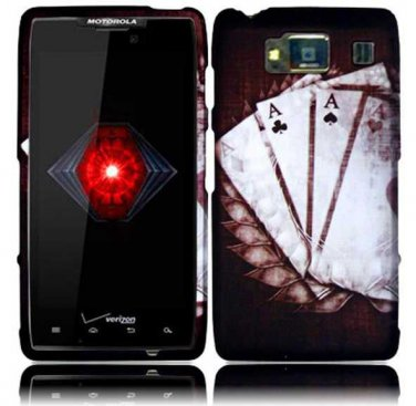 Hard Plastic Snap On Case Cover for Motorola Droid RAZR HD XT926 (Verizon) - Vintage Ace