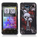 Hard Plastic Snap On Case Cover for Motorola Droid RAZR HD XT926 (Verizon) - Skull & Dagger
