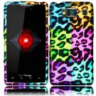 Hard Plastic Snap On Case Cover for Motorola Droid RAZR HD XT926 (Verizon) - Colorful Leopard