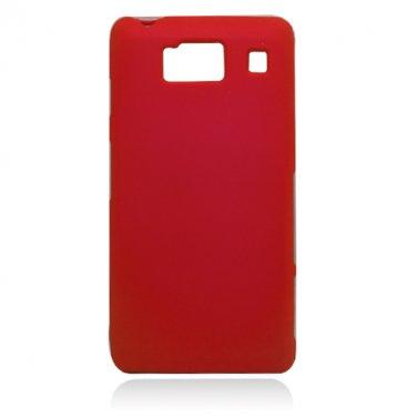 Hard Plastic Snap On Case Cover for Motorola Droid RAZR HD XT926 (Verizon) - Red
