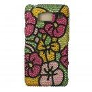 Hard Plastic Snap On Bling Case Cover for Motorola Droid RAZR HD XT926 (Verizon) - Hawaiian Flower