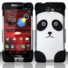 Hard Plastic Snap On Case Cover Motorola Droid RAZR M 4G LTE XT907 (Verizon) - Panda Bear