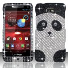 Hard Plastic Snap On Bling Case Cover for Motorola Droid RAZR M 4G LTE XT907 (Verizon) - Panda Bear