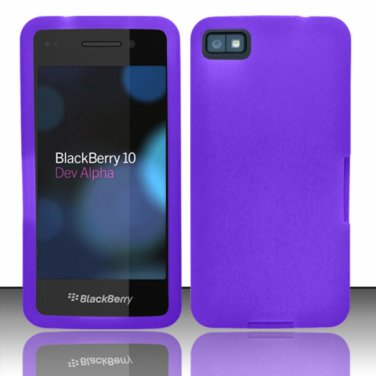 Purple Soft Silicone Rubber Skin Case Cover for Blackberry Z10 (AT&T/Sprint/T-Mobile/Verizon)
