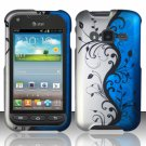 Hard Plastic Snap On Case Cover for Samsung Galaxy Rugby Pro i547 (AT&T) – Blue Vines