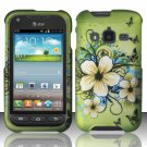 Hard Plastic Snap On Case Cover for Samsung Galaxy Rugby Pro i547 (AT&T) – Flowers & Butterfly